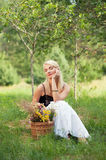 Beautiful woman relaxing outdoor Royalty Free Stock Photography