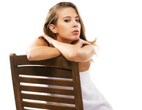 Beautiful woman relaxing at spa salon Royalty Free Stock Photo