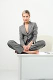 Beautiful woman. relaxing time in the office Royalty Free Stock Photos