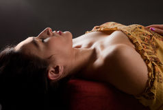 Beautiful Woman in Repose Royalty Free Stock Image