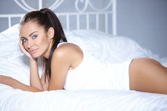 Beautiful woman is resting Royalty Free Stock Photography