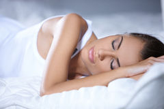 Beautiful woman is resting Royalty Free Stock Photos
