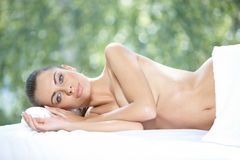 Beautiful woman is resting Royalty Free Stock Images