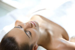 Beautiful woman is resting Royalty Free Stock Image