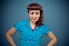 Beautiful woman with retro hairstyle Royalty Free Stock Photography