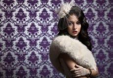 Beautiful Woman.Retro Style royalty free stock photo