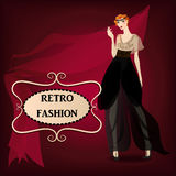 Beautiful woman in retro style Royalty Free Stock Images