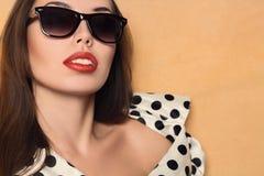Beautiful woman retro style Stock Photos