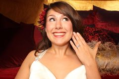 Beautiful woman with ring Royalty Free Stock Photography