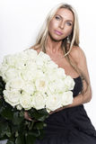 Beautiful woman with rose Royalty Free Stock Image