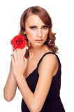 Beautiful woman with rose Stock Image