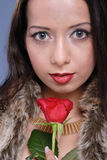 Beautiful woman with rose Royalty Free Stock Photo