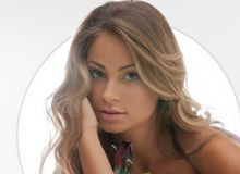 Beautiful woman with rose. Bright picture of beautiful woman with rose Stock Photography