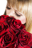Beautiful woman with roses Royalty Free Stock Photo