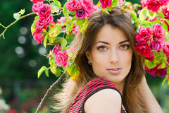 Beautiful woman with roses Royalty Free Stock Photos