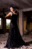 Beautiful woman on the ruins. Young beautiful woman on the ruins Royalty Free Stock Photography