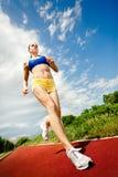 Beautiful woman runner Stock Photo