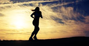 Beautiful Woman Runner Royalty Free Stock Image