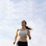 Beautiful Woman Runner Royalty Free Stock Photo