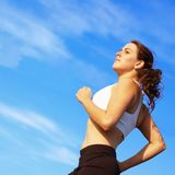 Beautiful Woman Runner Stock Images