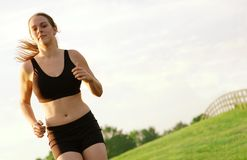 Beautiful Woman Runner Stock Photo