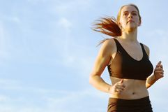 Beautiful Woman Runner Stock Image