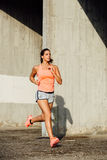 Beautiful woman running outdoor Royalty Free Stock Images