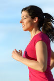 Woman running portrait Royalty Free Stock Photo
