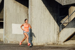 Beautiful woman running Stock Image