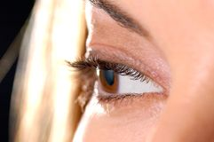 Beautiful woman's eye. Royalty Free Stock Photo
