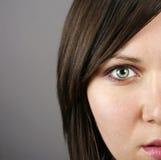 Beautiful woman�s face Stock Photos