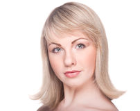 Beautiful woman's face with clean skin Royalty Free Stock Photo
