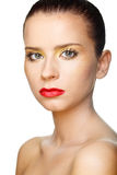 Beautiful woman's face with clean skin Royalty Free Stock Photos