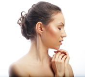 Beautiful woman's face with clean skin Stock Photography