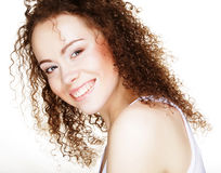 Beautiful woman`s face with clean skin Royalty Free Stock Image