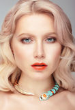 Beautiful woman's face. royalty free stock photo