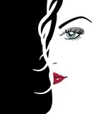Beautiful woman's face Royalty Free Stock Photography