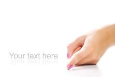 Beautiful woman's hand Royalty Free Stock Photography