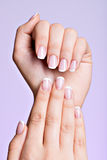 Beautiful woman's hands with beautiful  nails Stock Photos