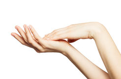 Beautiful woman's hands isolated Royalty Free Stock Image