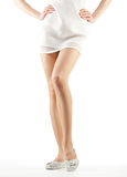 Beautiful woman's legs royalty free stock images