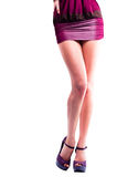 Beautiful woman's legs shape isolated Royalty Free Stock Photo