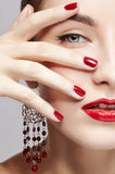 Beautiful woman's manicure Stock Images