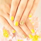 Beautiful woman's nails Stock Photography