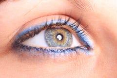 Beautiful woman`s open colorful eye Stock Photo