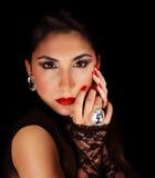 Beautiful woman's portrait Stock Images