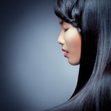 Beautiful Woman's Profile Royalty Free Stock Photography