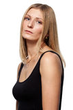A beautiful woman with sad eyes Royalty Free Stock Photo