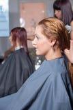 Beautiful woman in salon royalty free stock photography