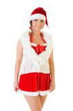 Beautiful woman in santa carnival costume Stock Image